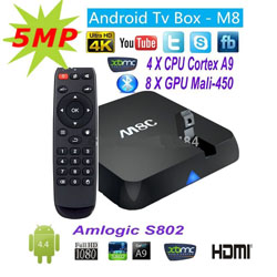 Android TV Box SerMax M8C Amlogic S802 + 5 MPixel Camera