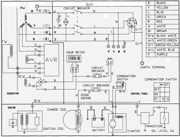 Электросхема генератора 1