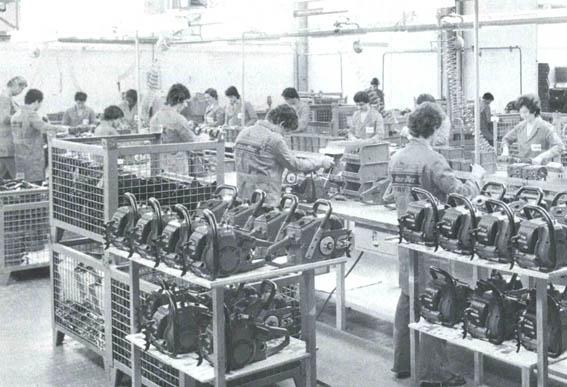 Сборка товаров на заводе Oleo-Mac