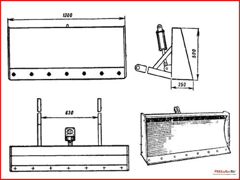 Как сделать на мотоблок лопату своими руками чертежи